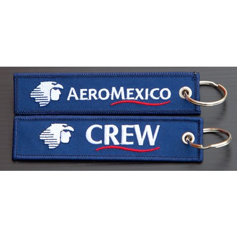 Key Chain Aeromexico CREW Embroidered