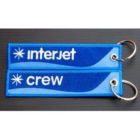 avworld.ca Key Chain Interjet CREW Embroidered