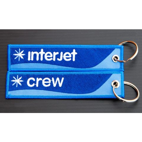 Key Chain Interjet CREW Embroidered