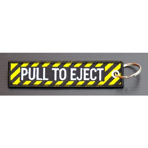 Key Chain Pull to Eject Embroidered