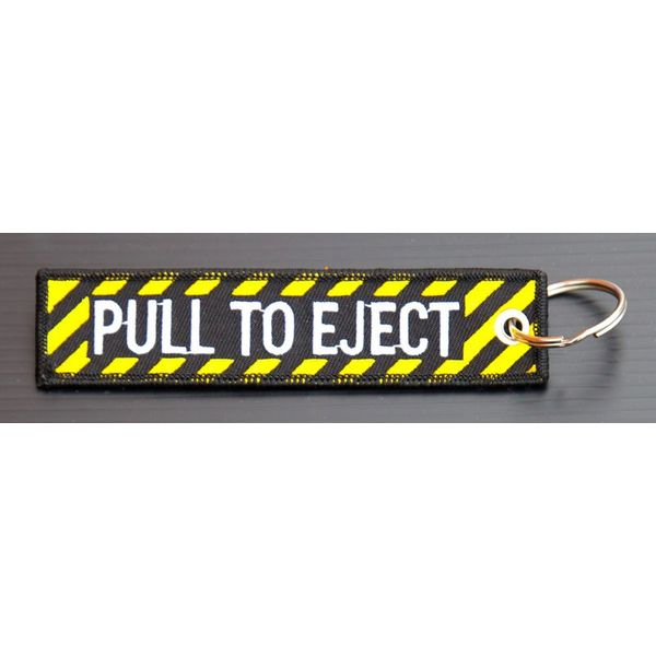 avworld.ca Key Chain Pull to Eject Embroidered