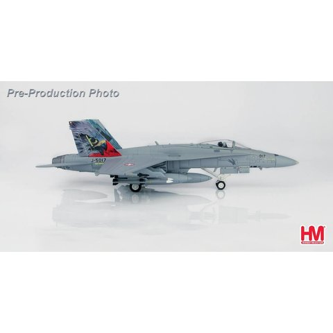 FA18C Staffel 17 Swiss Air Force, Hawk Tail, Emmen AB 2018 J-5017 1:72