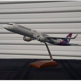 Gemini Jets A321neo Hawaiian New Livery 2017 N202HA 1:100 with stand