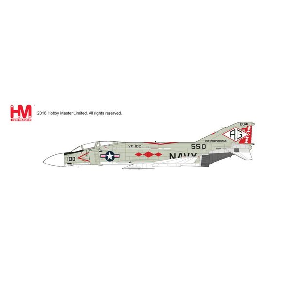 Hobby Master F4J Phantom II VF-102 Diamondbacks USS Independence CV-64 1976 1:72