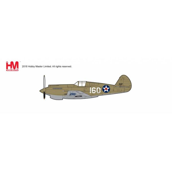 Hobby Master P40B Warhawk 47th PS 15th PG USAAF WHITE 160 2Lt.George Welch Oahu 1941 1:48 with stand +NEW TOOLING+