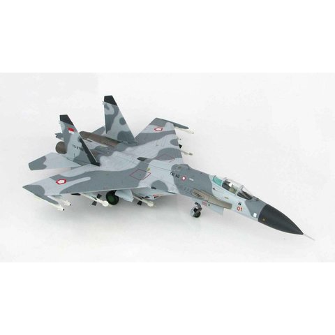 SU27SK Flanker 11 Squadron RED 01 TS-2702 Indonesian Air Force 2003 1:72