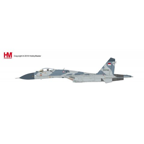 SU27SK Flanker 11 Sqn RED 02 Indonesian Air Force TNI AU TS-2702 1:72