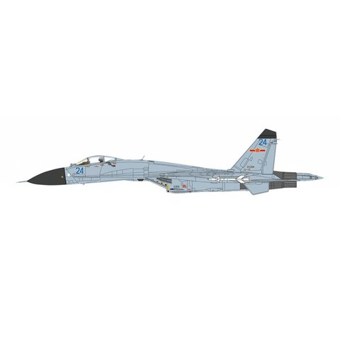 Shenyang J11 Flanker B+ BLUE 24 China Air Force PLAAF Serial 70100 2016 1:72
