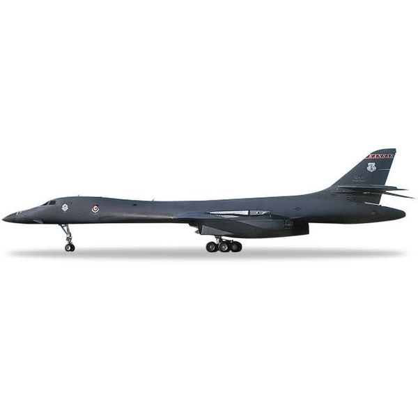 Herpa B1B Lancer 127BS 184BW USAF McConnell AFB Kansas ANG Wichita Intertribal Warrior Association 1:200 with stand