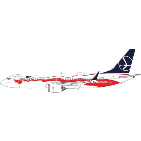 B737 MAX8 LOT Polish Proud of Poland's Independence SP-LVD 1:400