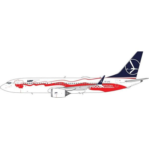 Phoenix B737 MAX8 LOT Polish Proud of Poland's Independence SP-LVD 1:400