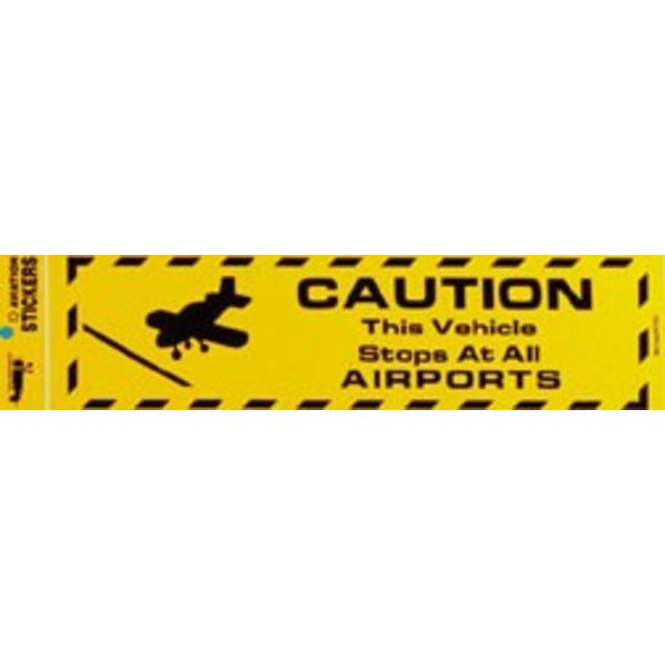 Caution: This Vehicle Stops Bumper Sticker