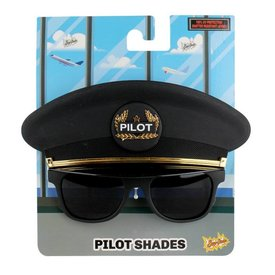 Sun-Staches Sunstaches Pilot Cap Sunglasses