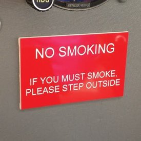 Sporty's No Smoking Placards Humourous
