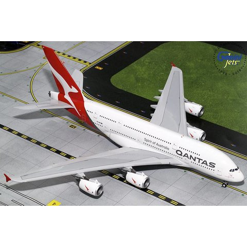 A380-800 QANTAS new livery 2016 VH-OQF 1:200 with stand