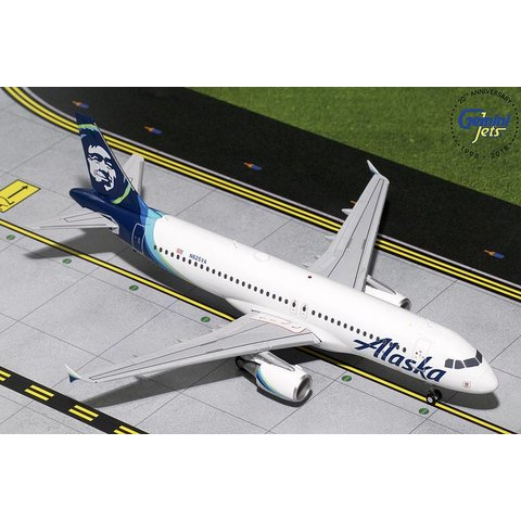 A320 Alaska Airlines New Livery 2015 N625VA 1:200 with stand