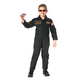 Rothco Kid's Flightsuit Black with Patches