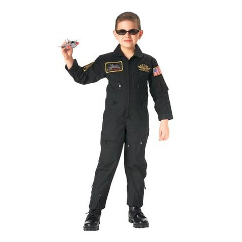 Kid's Flightsuit Black with Patches