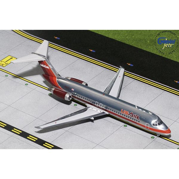 Gemini Jets DC9-30 US Air Maroon Livery N950VJA 1:200 polished with stand