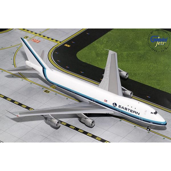 Gemini Jets B747-100 Eastern Hockey stick livery N735PA 1:200 Polished with stand