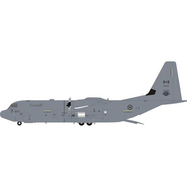 InFlight CC130J Super Hercules RCAF 436 Squadron 75th 130610 grey 1:200 With Stand
