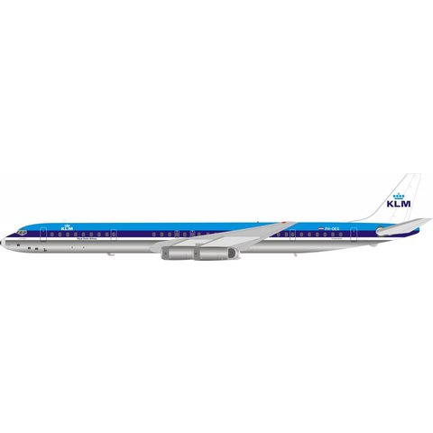 DC8-63 KLM Royal Dutch Airlines PH-DEG 1:200 with stand