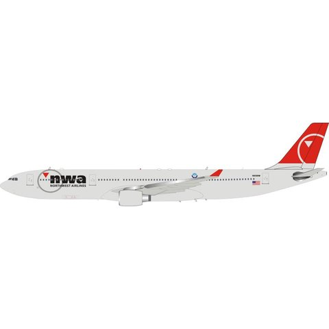 A330-300 Northwest Airlines NWA final livery 2003 N808NW 1:200 with stand