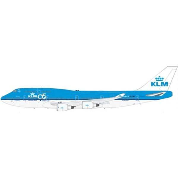 JC Wings B747-400 KLM 95th Anniversary (left side only) PH-BFH 1:200 with stand++SALE++