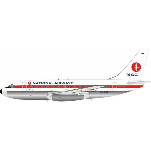 B737-200 NAC New Zealand National Airways Corporation ZK-NAC 1:200 Polished with stand