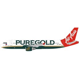 InFlight A320 AirAsia Philippines Pure Gold RP-C8978 1:200 with stand