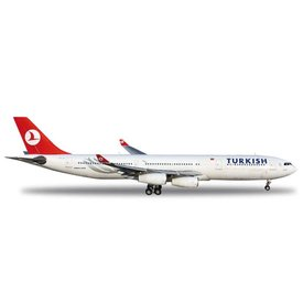 Herpa A340-300 Turkish Airlines TC-JII 1:200 with stand