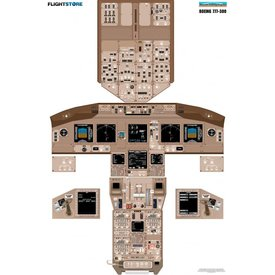 Laminated Cockpit Training Poster B777-300
