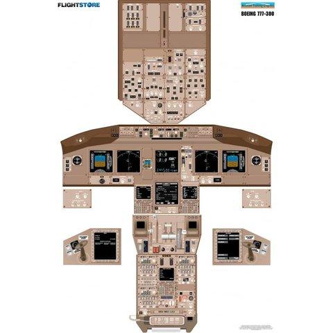 Laminated Cockpit Training Poster B777-300
