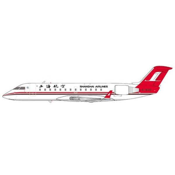 JC Wings CRJ200ER Shanghai Airlines B-3020 1:200 with stand