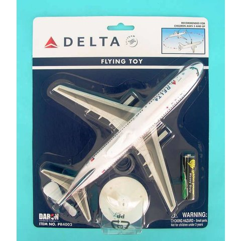 Delta 2007 livery Flying Toy Plane on a String