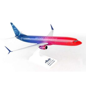 SkyMarks B737-900ER Alaska More To Love 1:130 with stand