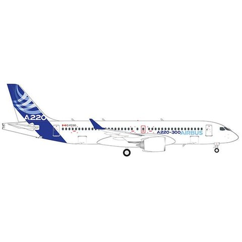 A220-300 (CS300) Airbus House Livery C-FFDO 1:200 with stand