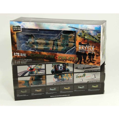 CH47J Chinook Japan JGSDF, 12th Brigade, 12th Helicopter Unit, 2nd Squadron 1:72 with stand