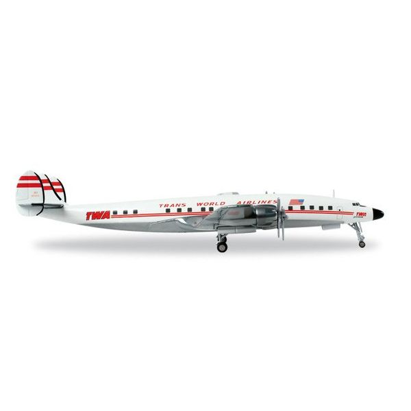 Herpa L1649 Constellation TWA N7321C 1:200 with stand