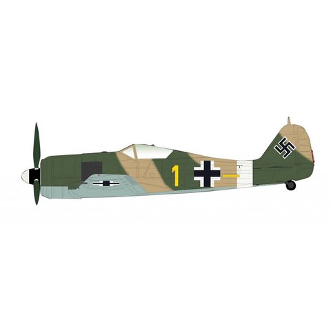 Fw190A4 YELLOW1 Oblt.Erich Rudorffer 6./JG 2 North Africa Spring 1943 1:48