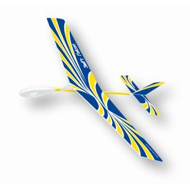 Park Pilots Swift Falcon Rubber Band Wind Up Glider Blue yellow
