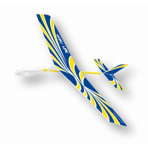 Swift Falcon Rubber Band Wind Up Glider Blue yellow