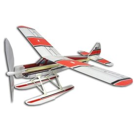 Park Pilots Beaver Floats Rubber Band Wind Up Glider red/white
