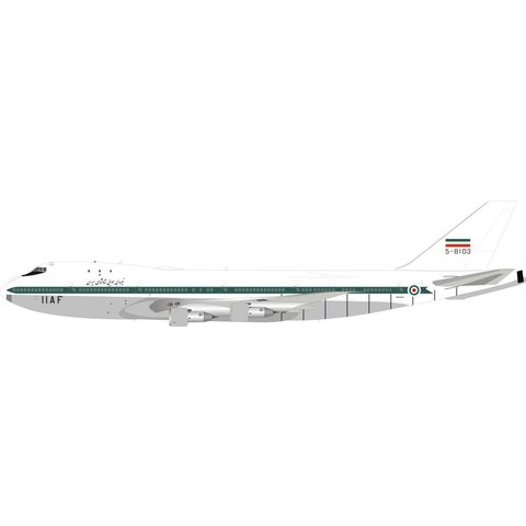 B747-100 Iran Air Force IIAF 5-8103 1:200 with stand