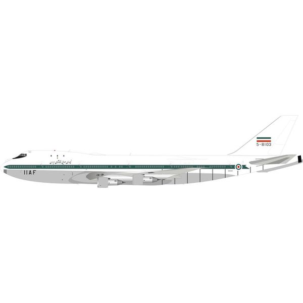 InFlight B747-100 Iran Air Force IIAF 5-8103 with AAR Boom 1:200 with stand