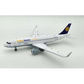 JFOX A320S Lufthansa 5 Starhansa D-AIZX sharkets 1:200 With Stand