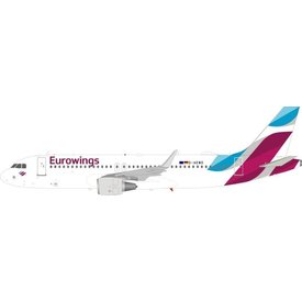 JFOX A320S Eurowings D-AEWO sharkets 1:200 With Stand
