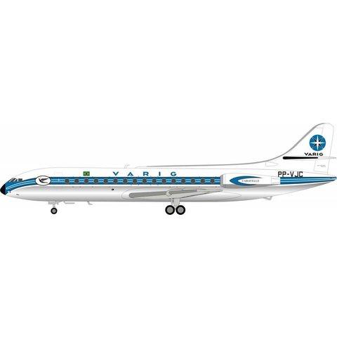 SE210 Caravelle III Varig PP-VJC 1:200 Polished with Stand