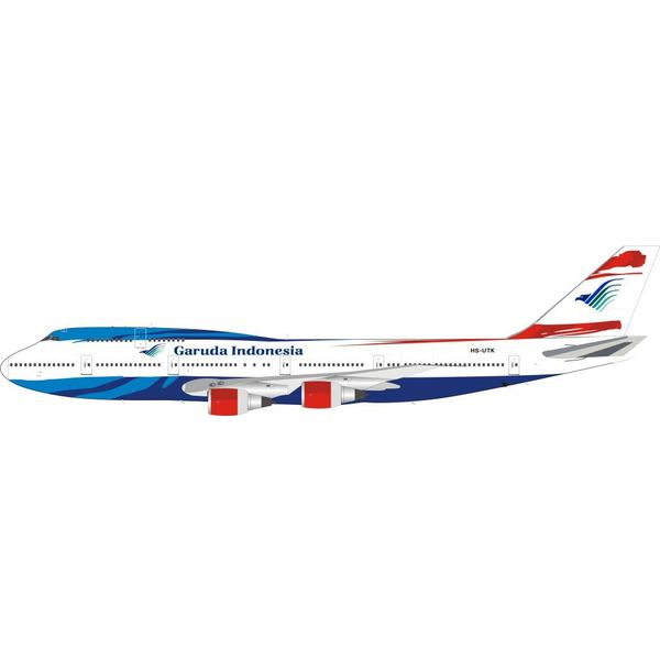 InFlight B747-300 Garuda Indonesia HS-UTK (One-Two-Go livery) 1:200 With Stand