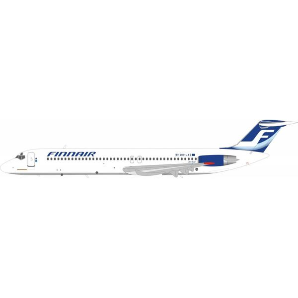 InFlight DC9-50 Finnair OH-LYS 1:200 with stand